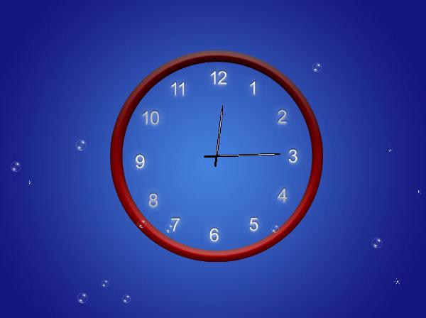 Abstract Clock Animated Wallpaper 100