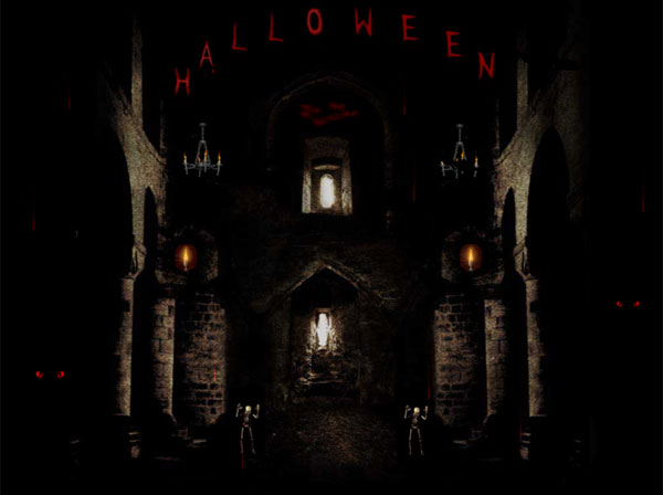 Click to view Halloween in Castle Animated Wallpaper 1.1.0 screenshot