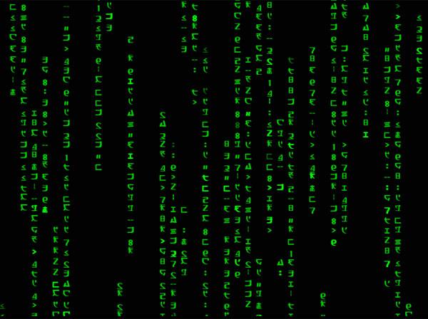 Windows 8 Animated Matrix Code Wallpaper full